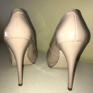 Aldo high heels cream size 5
